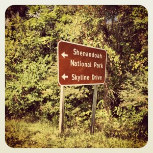Follow the signs to Skyline Drive...