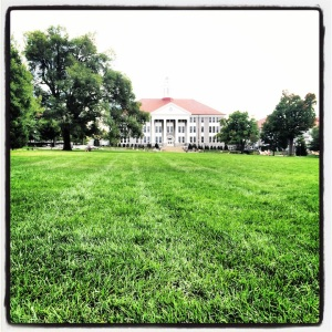 The Quad. Where is everyone? Back in my day, this place would be packed with kids playing frisbee and playing guitars!