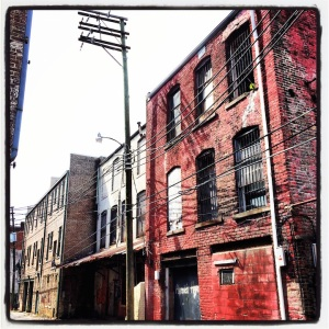 Back alley. Downtown Birmingham, Alabama