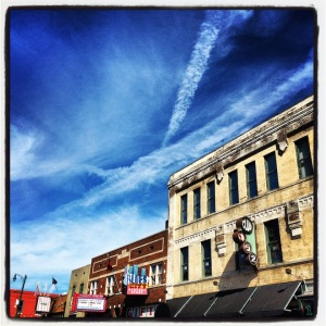 The colors and architecture of Beale Street