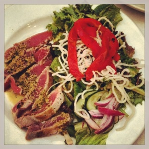 Amazing ahi salad!!