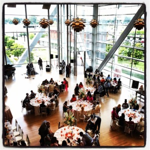Wedding reception @ the Clinton Presidential Library. Should we crash it?