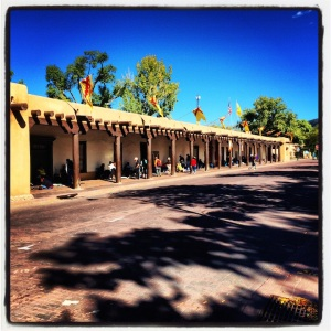 Santa Fe. Tourist trap vendors. I think the stuff they sell is all fake.