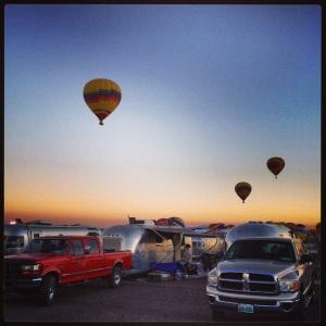 Balloons & Airstreams! Beautiful!
