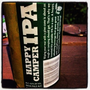 "Great name for a beer! And a ""must"" to bring along if you go camping or glamping like us!"